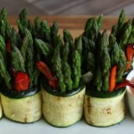 ASPARAGUS ROLLS & CHILI-LIME CREAM