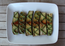 ROAST EGGPLANT WITH PESTO